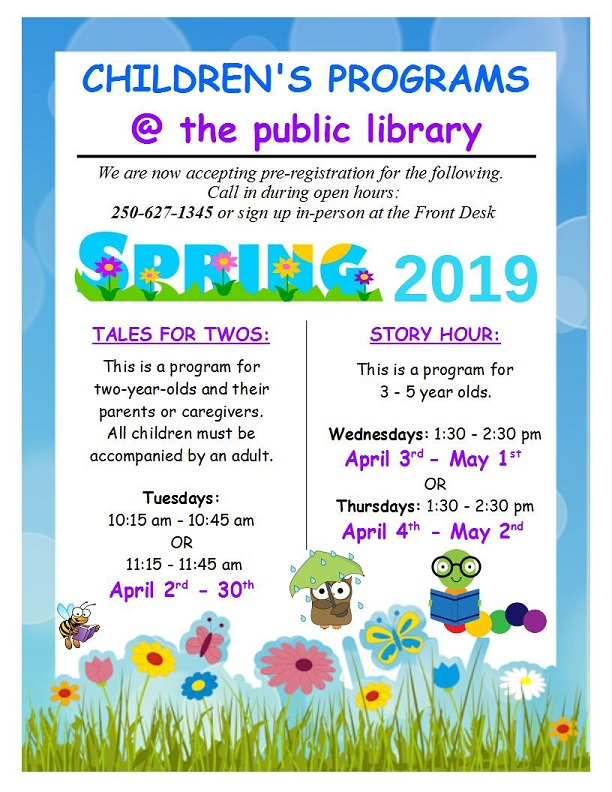 Spring 2019 Children's Programs