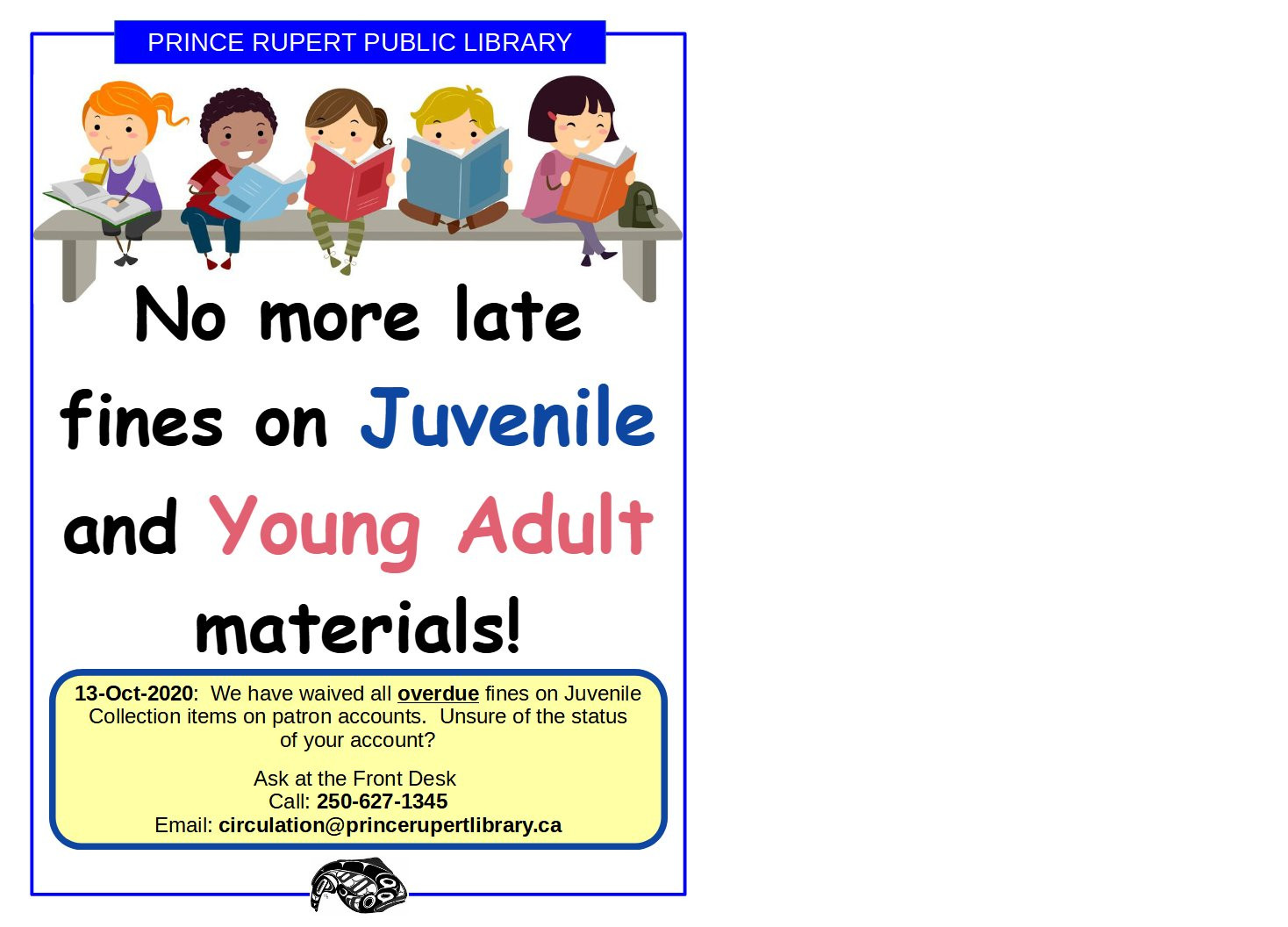 Juvenile and YA Items: No More Late Fines!