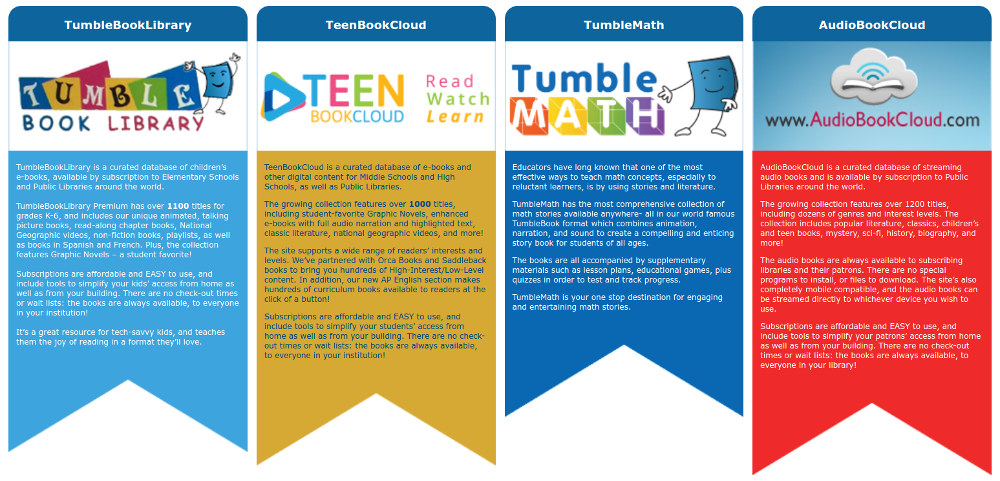 TumbleBooks E-Items Now Available